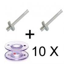 2 X Garnstandard mit 10 Spülen